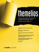 Themelios, Volume 37, Issue 1