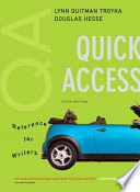 QA, Quick Access Reference for Writers