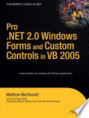 """""""Pro.NET 2.0 Windows Forms and Custom Controls in VB 2005"""" by Matthew MacDonald"""