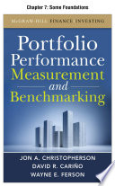 Portfolio Performance Measurement and Benchmarking, Chapter 7 - Some Foundations