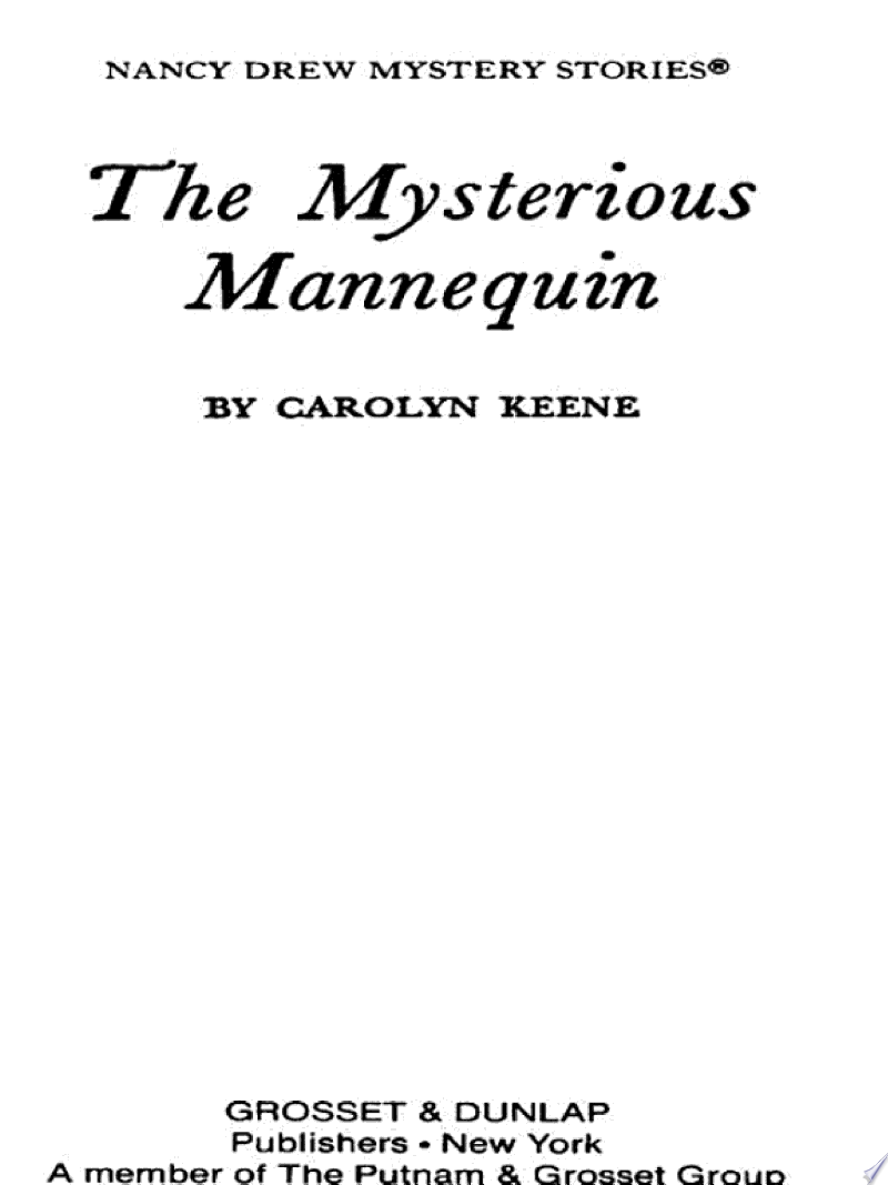 Nancy Drew 47: The Mysterious Mannequin banner backdrop