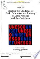 Meeting the Challenge of Basic Education and Literacy in Latin America and the Caribbean