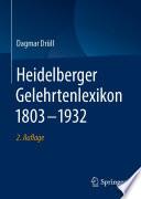 Heidelberger Gelehrtenlexikon 1803–1932