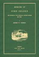 Pdf Memoirs of John Selden and the Notices of the Political Contest During His Time Telecharger