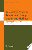 Research in Systems Analysis and Design  Models and Methods