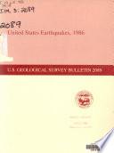 United States Earthquakes, 1986