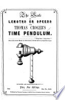 The Scale Of Lengths Or Speeds For Thomas Croger S Time Pendulum