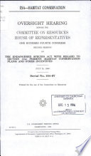 ESA  habitat Conservation Book PDF