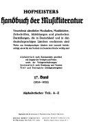 Handbuch der musikalischen Literatur