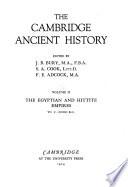 The Cambridge Ancient History ...