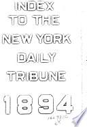 The New York Daily Tribune Index