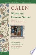 Galen  Works on Human Nature  Volume 1  Mixtures  De Temperamentis