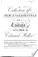 A Collection of New English Songs and a Cantata