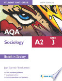 AQA A2 Sociology Student Unit Guide New Edition  Unit 3 Beliefs in Society