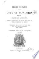 Revised Ordinances of the City of Concord Book