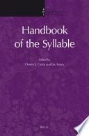 Handbook of the Syllable