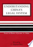 Understanding China S Legal System Book PDF