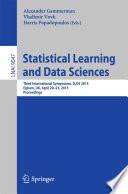 Statistical Learning and Data Sciences