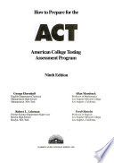 How to Prepare for the American College Testing Assessment Program - ACT