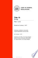 2017 Cfr Annual Print Title 10 Energy Parts 1 50