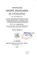 Nouvelles leçons françaises de littérature et de morale