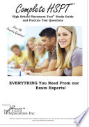 Complete Hspt  : High School Placement Test Study Guide and Practice Test Question