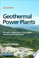 Geothermal Power Plants Book PDF