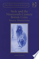 Style And The Nineteenth Century British Critic