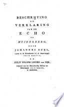 Beschrijving En Verklaring Van De Echo Te Muiderberg
