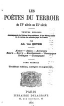 Les poètes du terroir du XVe siècle au XXe siècle