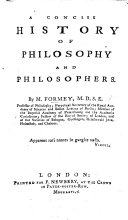 A concise history of philosophy and philosophers   Translated from the French