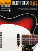 Country Guitar Songs   Hal Leonard Guitar Method Supplement