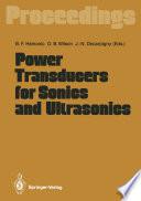 Power Transducers for Sonics and Ultrasonics Book