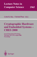 Cryptographic Hardware and Embedded Systems   CHES 2000