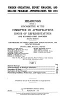 HEARINGS BEFORE A SUBCOMMITTEE OF THE COMMITTEE ON APPROPRIATIONS HOUSE OF REPRESENTATIVES ONE HUNDRED FIRST CONGRESS