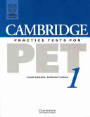 Cambridge Practice Tests for PET 1 Student s book