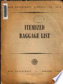 Itemized Baggage List