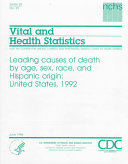 Leading Causes of Death by Age, Sex, Race, and Hispanic Origin