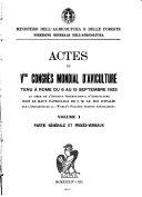 Actes du Veme Congrés mondial d'aviculture, tenu á Rome du 6 au 15 Septembre 1933 ...
