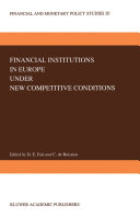 Pdf Financial Institutions in Europe under New Competitive Conditions Telecharger