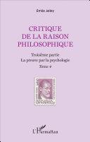 Pdf Critique de la raison philosophique Telecharger