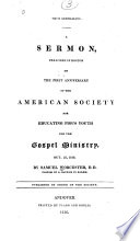 Report of the Directors of the American Education Society