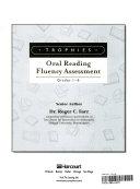 Trophies Oral Fluency Assessmnt Grades 1 6