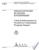 Disadvantaged business enterprises critical information is needed to understand program impact.