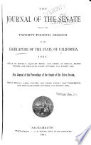The Journal of the Senate     of the Legislature of the State of California