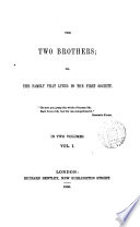 The two brothers  or  The family that lived in the first society  by M  Raven  Transl    Book PDF