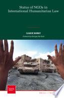 Status Of Ngos In International Humanitarian Law