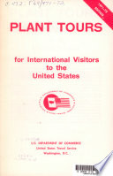 Plant Tours for International Visitors to the United States  1967