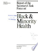 Report of the Secretary's Task Force on Black & Minority Health: Chemical dependency and diabetes
