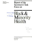 Report of the Secretary s Task Force on Black   Minority Health  Chemical dependency and diabetes